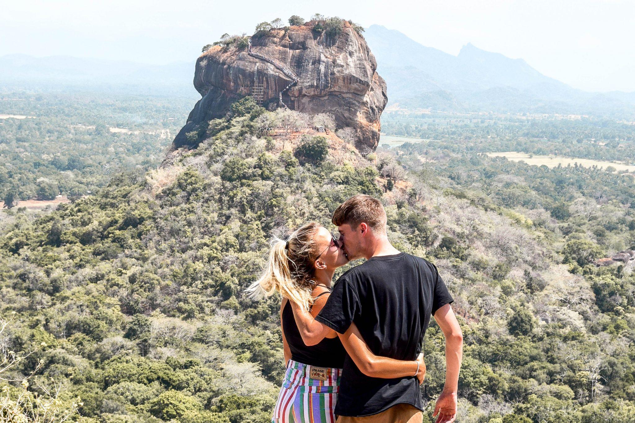 Wanderers & Warriors - Charlie & Lauren UK Travel Couple - Pidurangala Rock Sigiriya Rock Sri Lanka