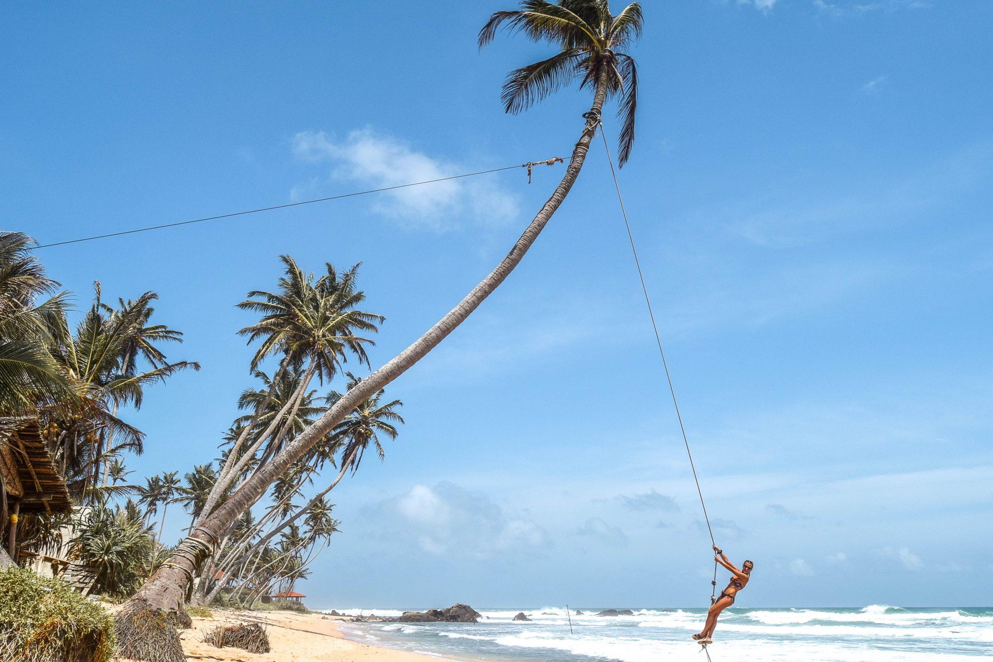 Wanderers & Warriors - Charlie & Lauren UK Travel Couple - Things To Do In Unawatuna - Dalawella Beach Swing