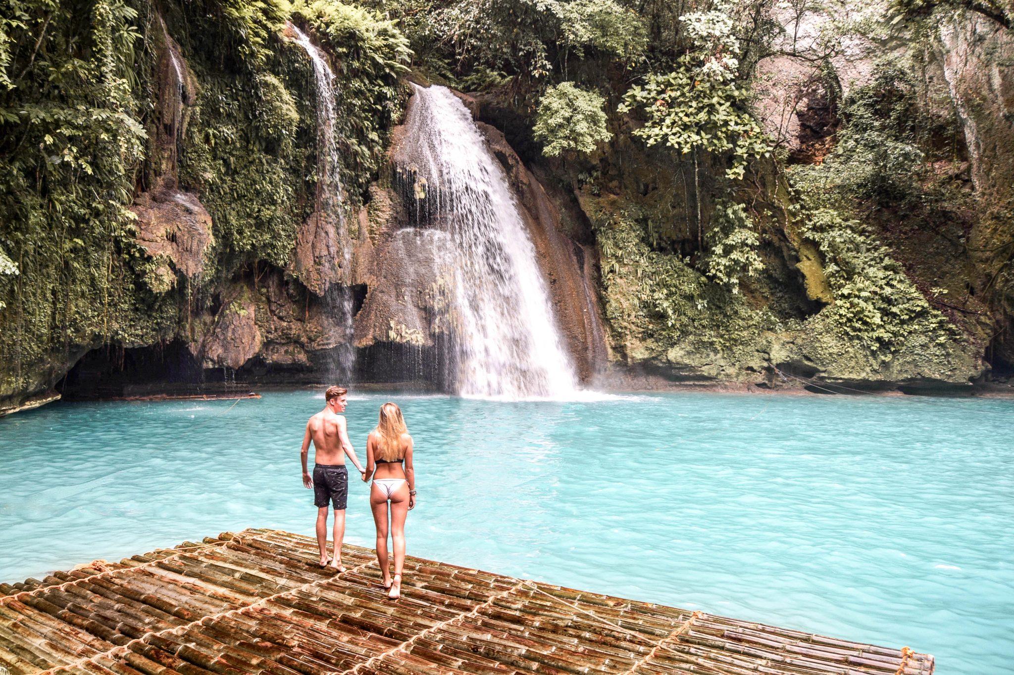 Wanderers & Warriors - Charlie & Lauren UK Travel Couple - Kawasan Falls Cebu Philippines - Kawasan Falls & More Things To Do In Moalboal