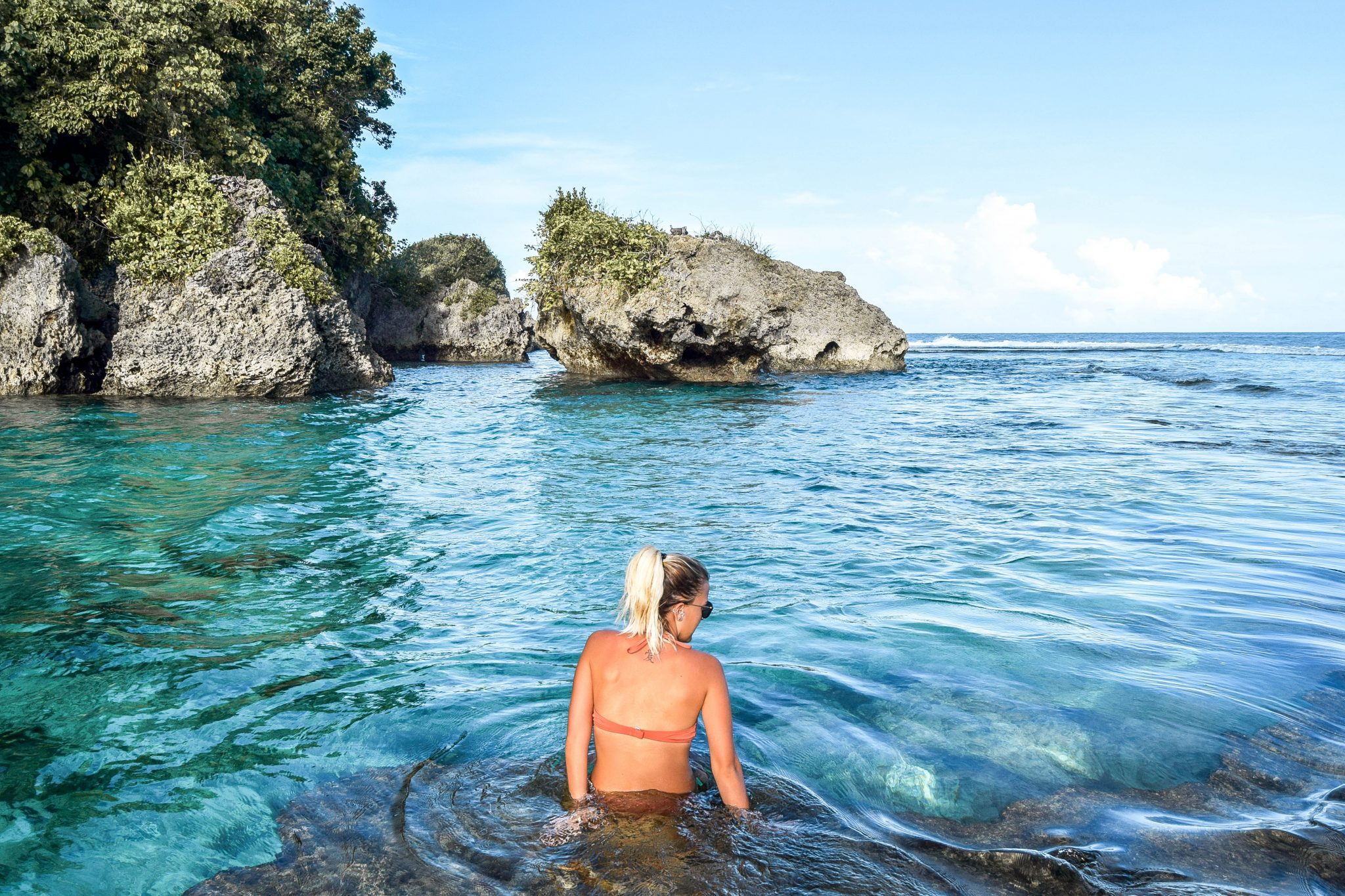 Wanderers & Warriors - Charlie & Lauren UK Travel Couple - Magpupungko Rock Pools Siargao Philippines - Siargao Tourist Spots - Things To Do In Siargao Island