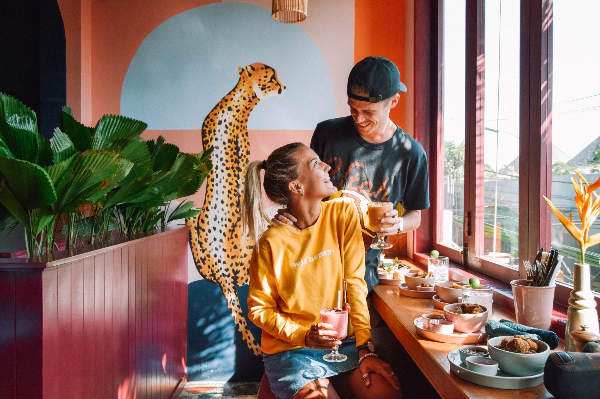 Wanderers & Warriors - Charlie & Lauren UK Travel Couple - Neon Palms Bali - Best Restaurants In Bali Restaurants - Best Restaurants In Seminyak