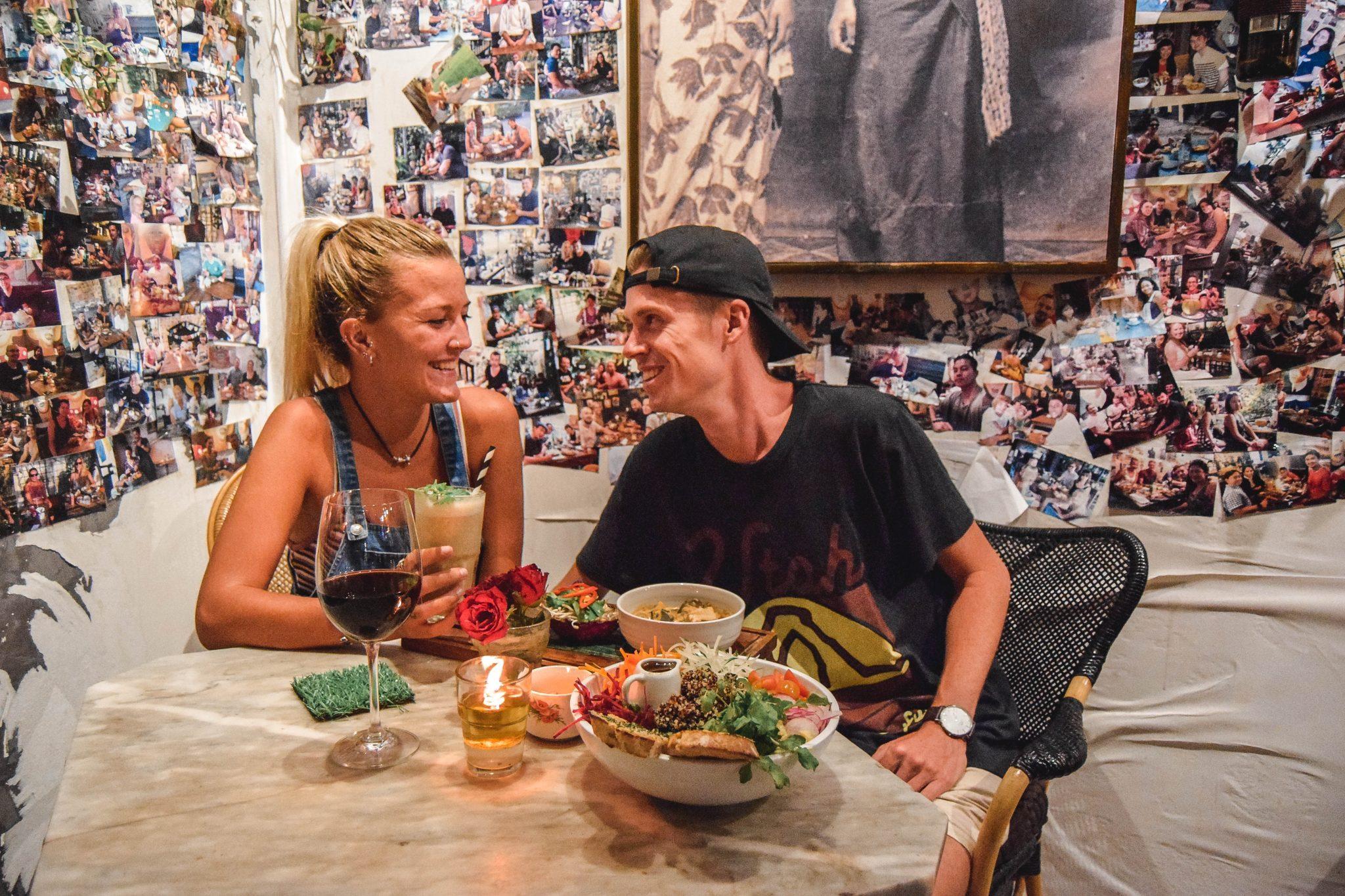 Wanderers & Warriors - Charlie & Lauren UK Travel Couple - MyWarung Bali - Best Restaurants In Canggu Restaurants