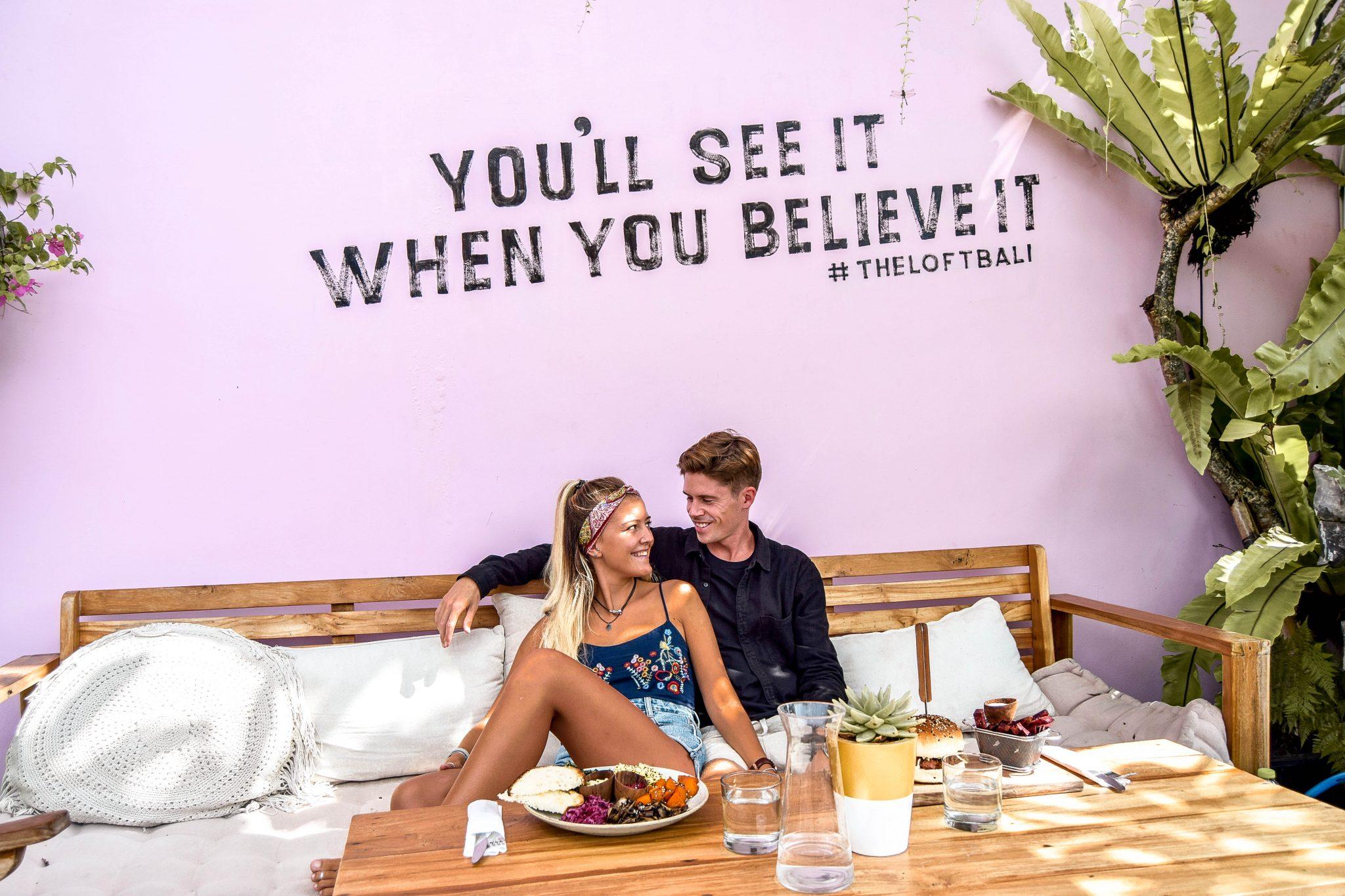 Wanderers & Warriors - Charlie & Lauren UK Travel Couple - The Loft Canggu - Best Restaurants In Canggu Restaurants
