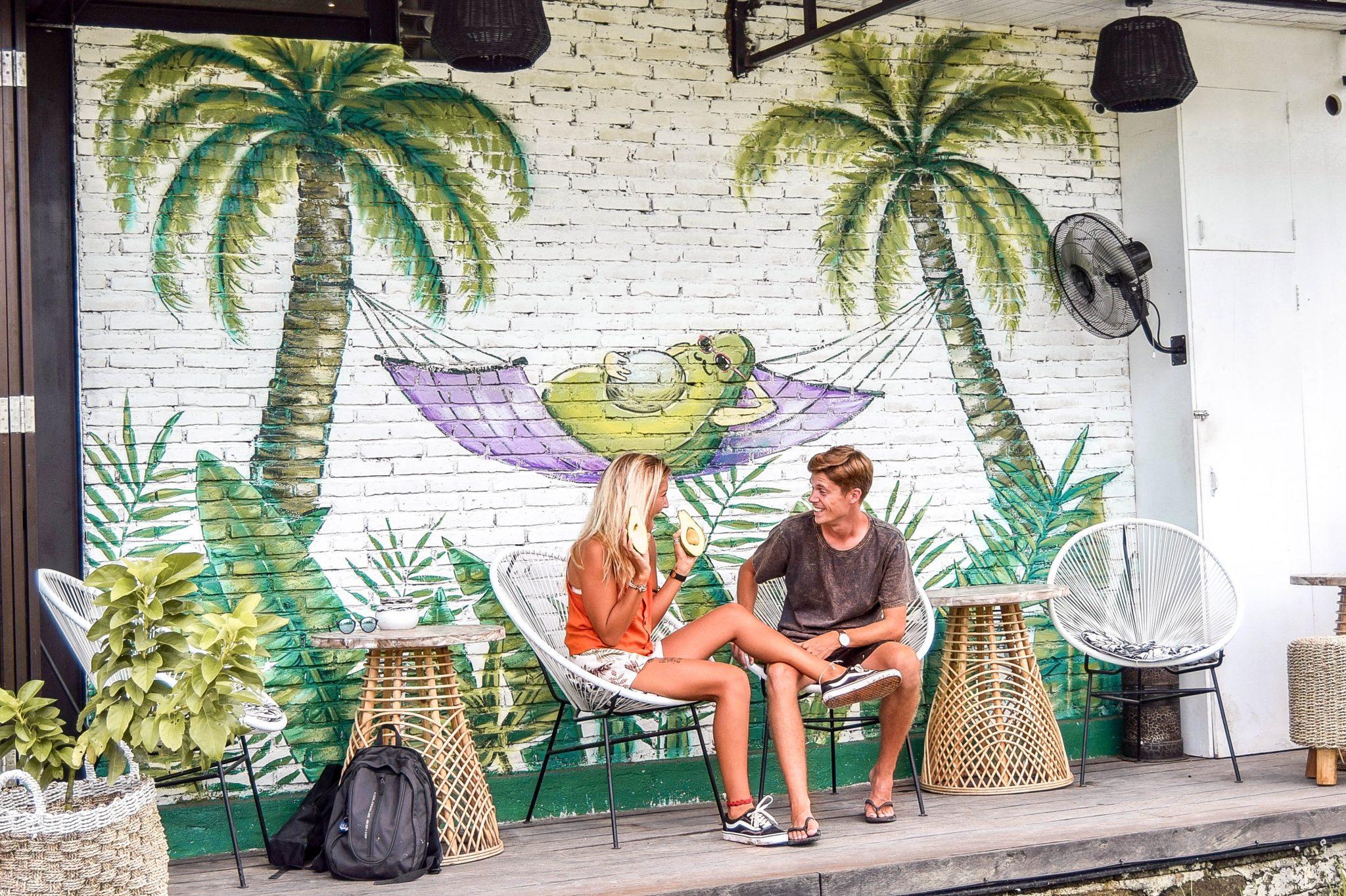 Wanderers & Warriors - Charlie & Lauren UK Travel Couple - The Avocado Factory Canggu - Best Restaurants In Canggu Restaurants