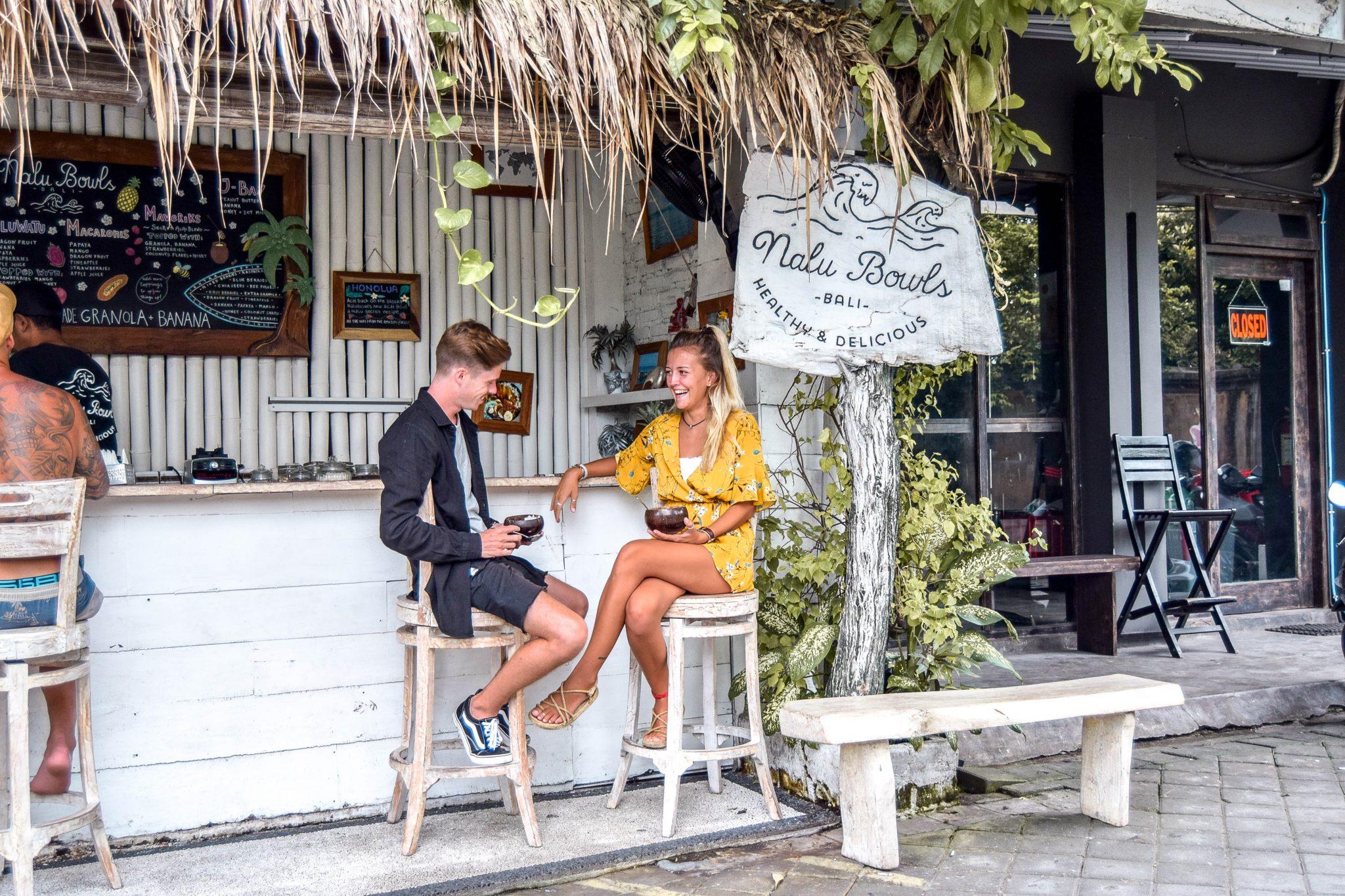 Wanderers & Warriors - Charlie & Lauren UK Travel Couple - Nalu Bowls Seminyak - Best Restaurants In Bali Restaurants - Best Restaurants In Seminyak