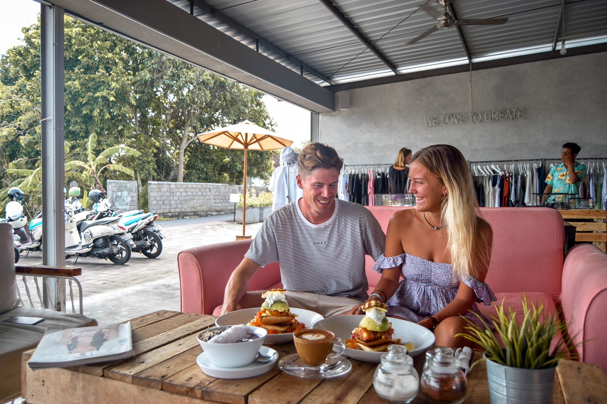 Wanderers & Warriors - Charlie & Lauren UK Travel Couple - The Crate Cafe Canggu - Best Restaurants In Canggu Restaurants