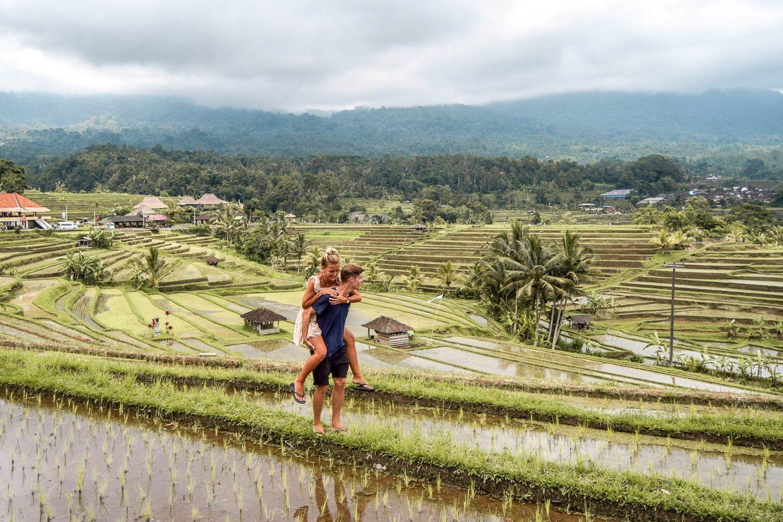 Wanderers & Warriors - Charlie & Lauren - About Us - Jatiluwih Rice Terraces, Bali, Indonesia
