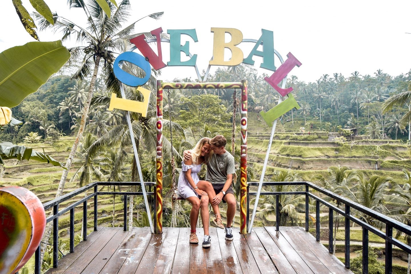 Love Bali Sign Tegalalang Rice Terrace Bali Things To Do In Ubud