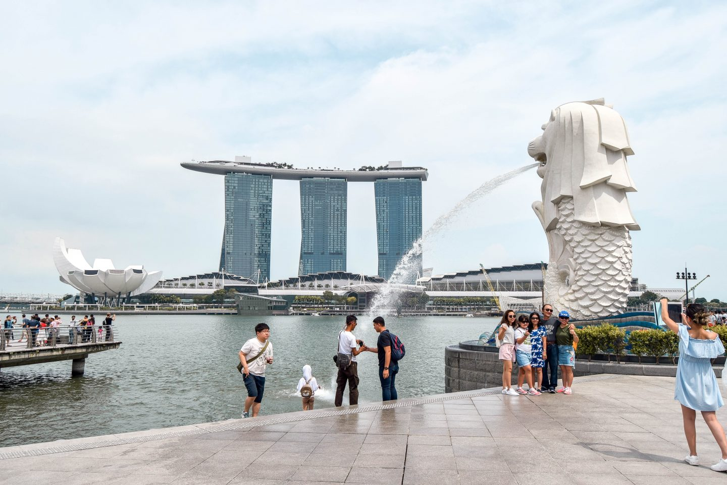 Wanderers & Warriors - Marina Bay Merlion - Best Things To Do In Singapore Itinerary
