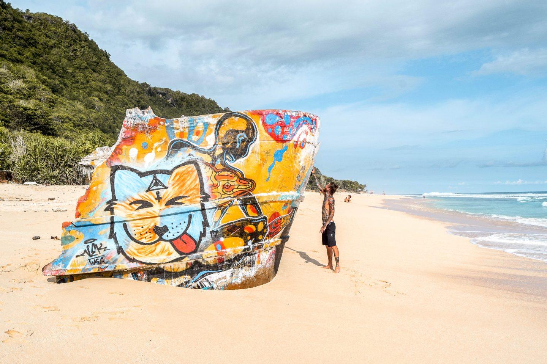 Nyang Nyang Beach Shipwreck Vessel Bali