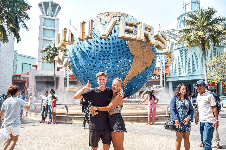 Wanderers & Warriors - Charlie & Lauren UK Travel Couple - Universal Studios Singapore - Best Things To Do In Singapore Itinerary