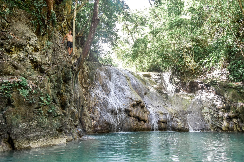 Wanderers & Warriors - Charlie & Laure UK Travel Couple - Bohol Waterfalls You Must Visit - Ingkumhan Falls - Dimiao Twin Falls - Bohol Tourist Spots