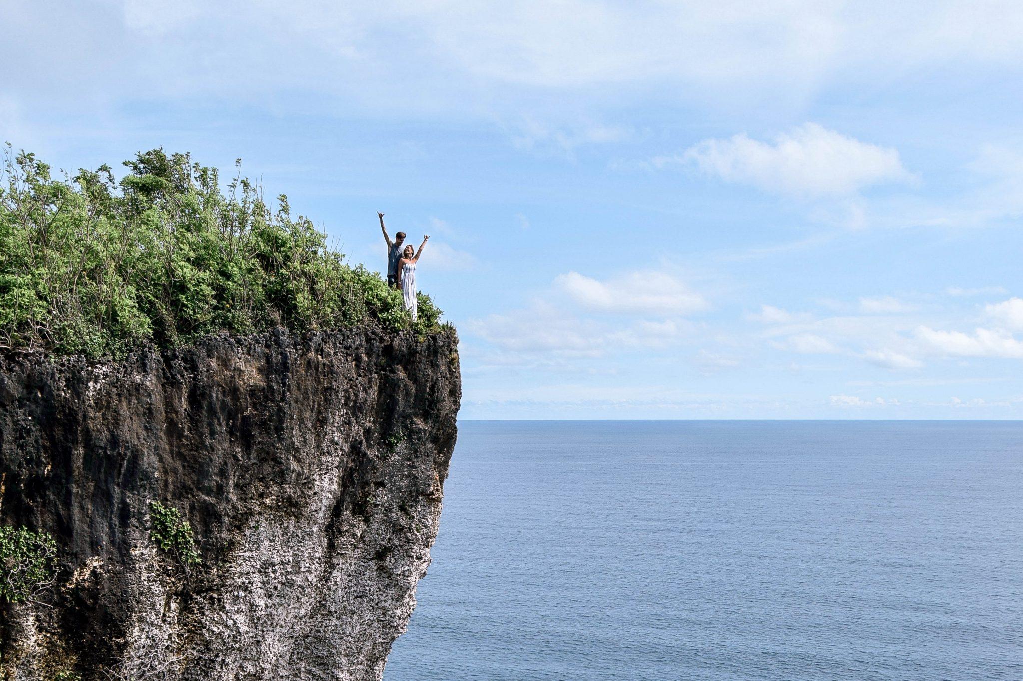 Wanderers & Warriors - Charlie & Lauren UK Travel Couple - Karang Boma Cliff – Uluwatu Cliff Spot Bali - Things to do in Uluwatu - bali cliff