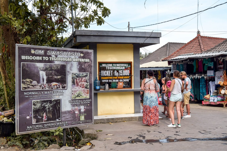 Tegenungan Waterfall Bali Entrance