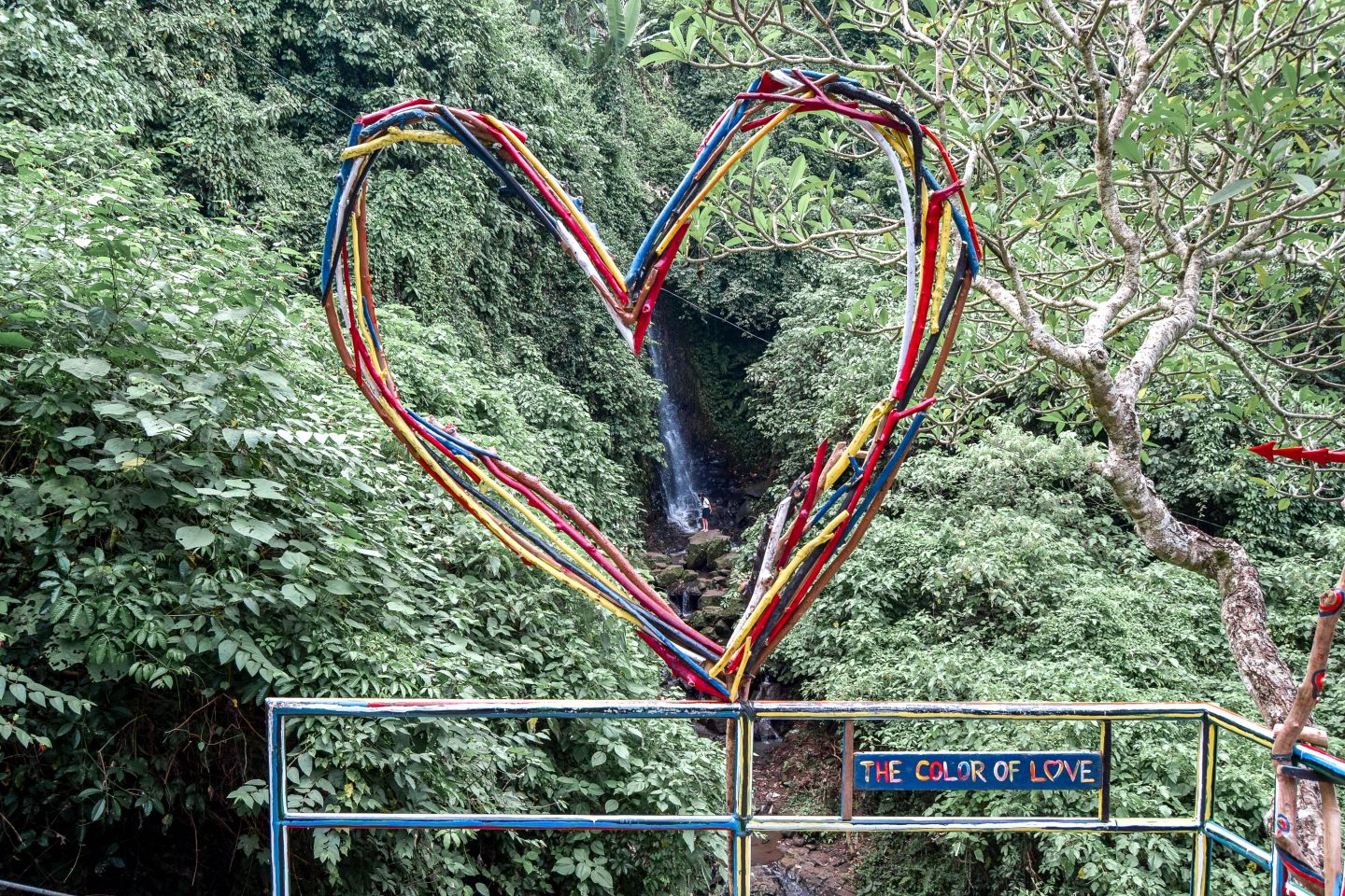 Tegenungan Waterfall Bali Love Heart