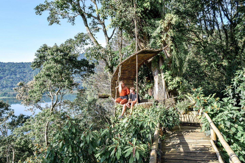 Wanderers & Warriors - Charlie & Lauren UK Travel Couple - Wanagiri Hidden Hills Bali Swing Bali Nest