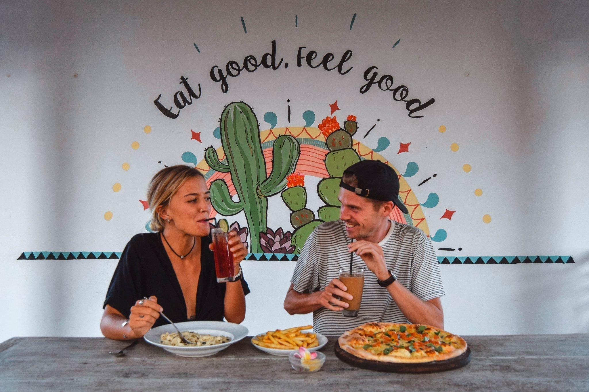 Wanderers & Warriors - Charlie & Lauren UK Travel Couple - Garden Canggu By Pizza House Restaurant Canggu Bali - Best Restaurants In Bali Food - Best Restaurants In Canggu
