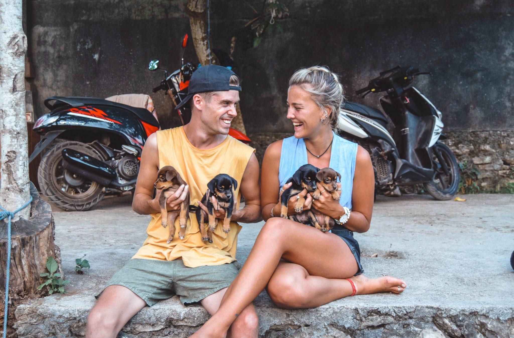 Wanderers & Warriors - Charlie & Lauren UK Travel Couple - Blue Lagoon Nusa Cenengan Bali - Blue Lagoon Bali - Cliff Jumping Nusa Ceningan - Blue Lagoon Nusa Lembongan - Puppies In Bali