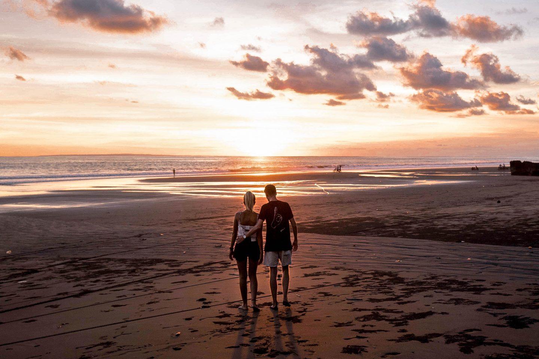 Pasut Beach Bali Sunset Black Sand Beach Bali