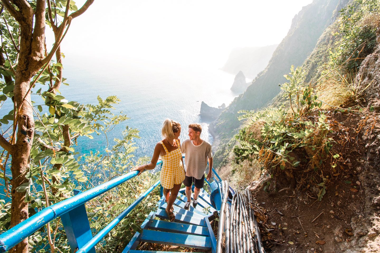 Peguyangan Waterfall Nusa Penida Bali Blue Stairs Nusa Penida