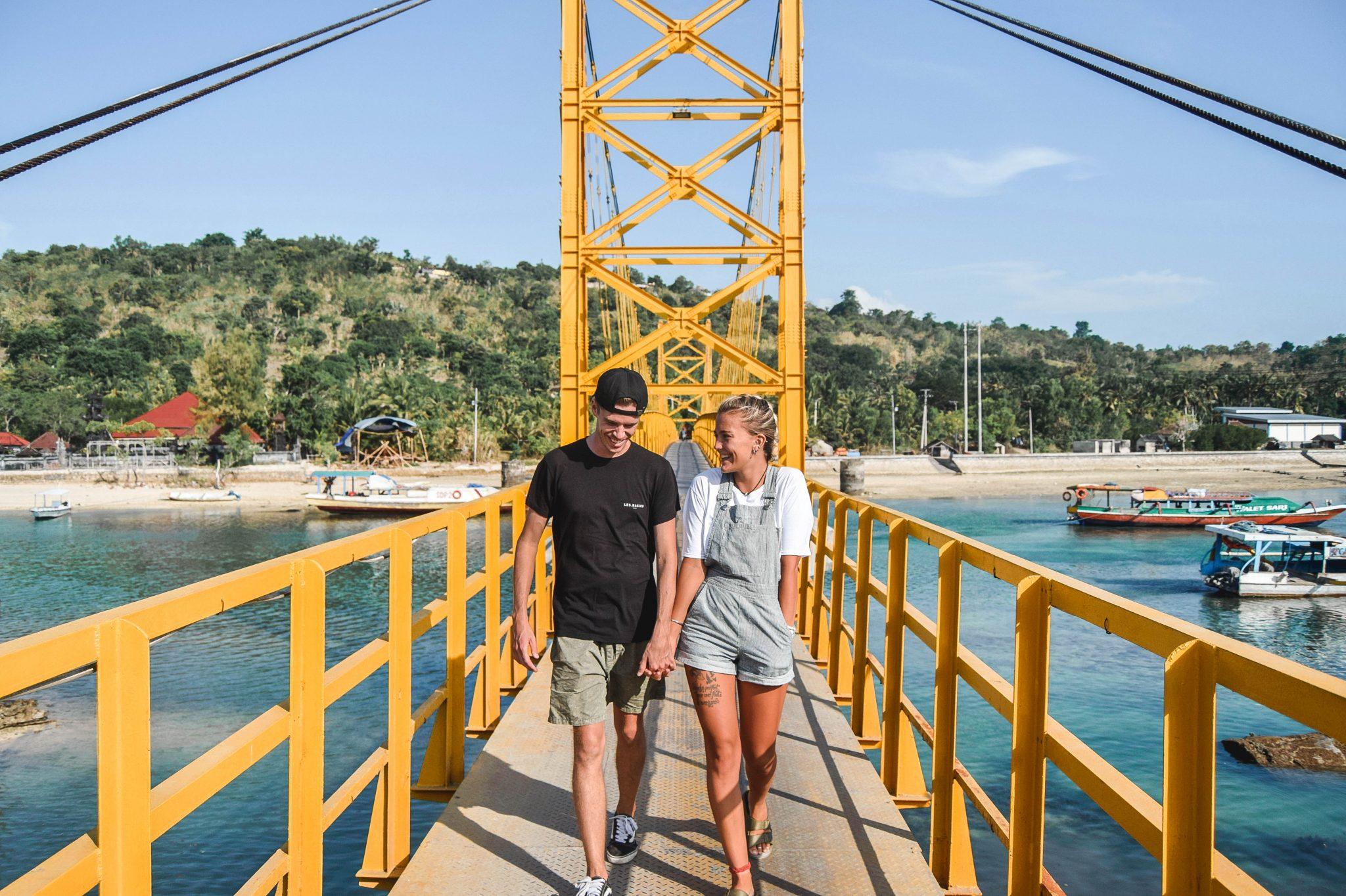 Wanderers & Warriors - Charlie & Lauren UK Travel Couple - The Yellow Bridge - Nusa Lembongan To Cenengan - Yellow Bridge Lembongan Bali - Things To Do On Nusa Lembongan