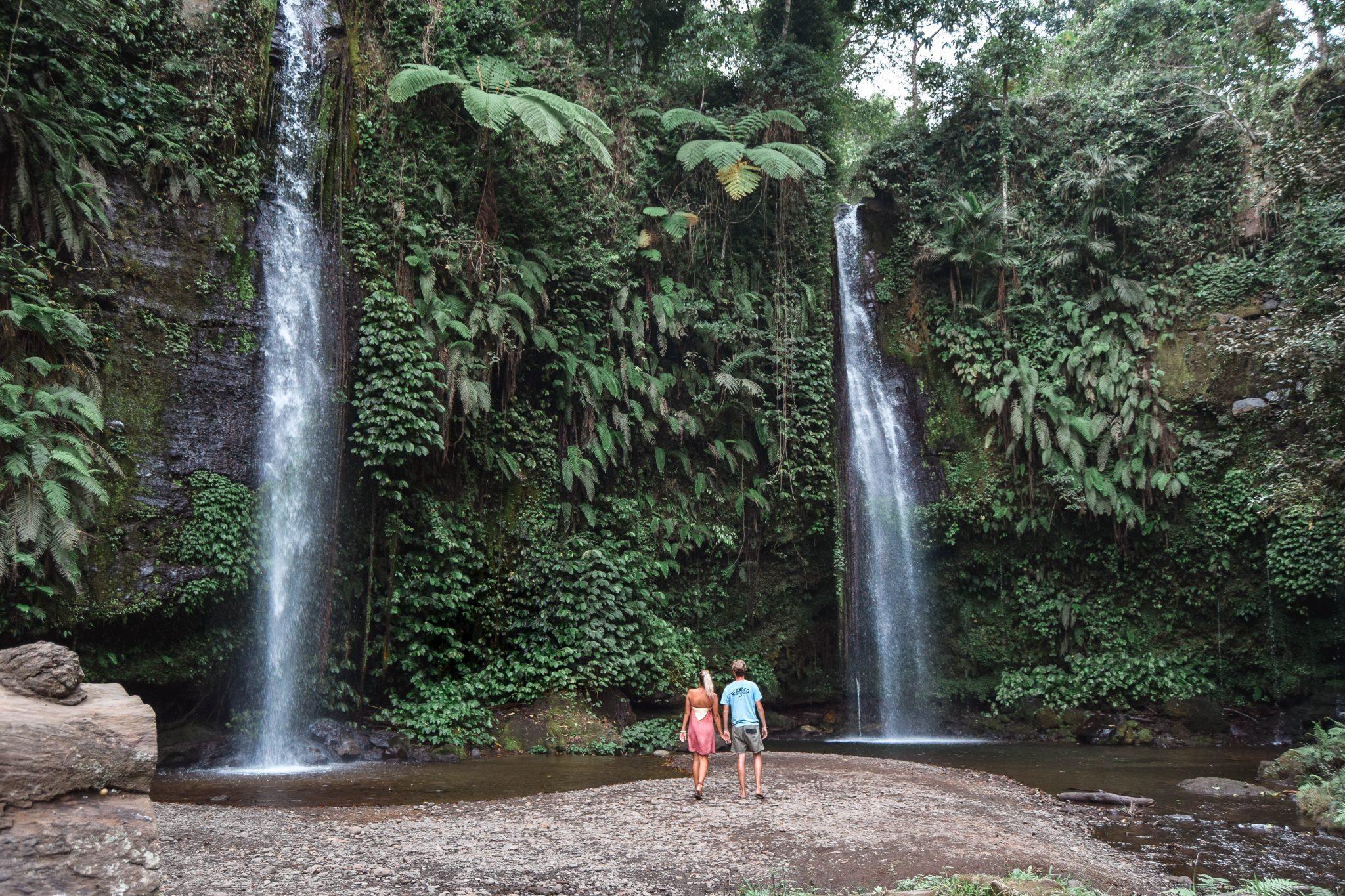 Wanderers & Warriors - Charlie & Lauren UK Travel Couple - Benang Stokel & Benang Kelambu Waterfall Lombok Best Waterfalls In Lombok