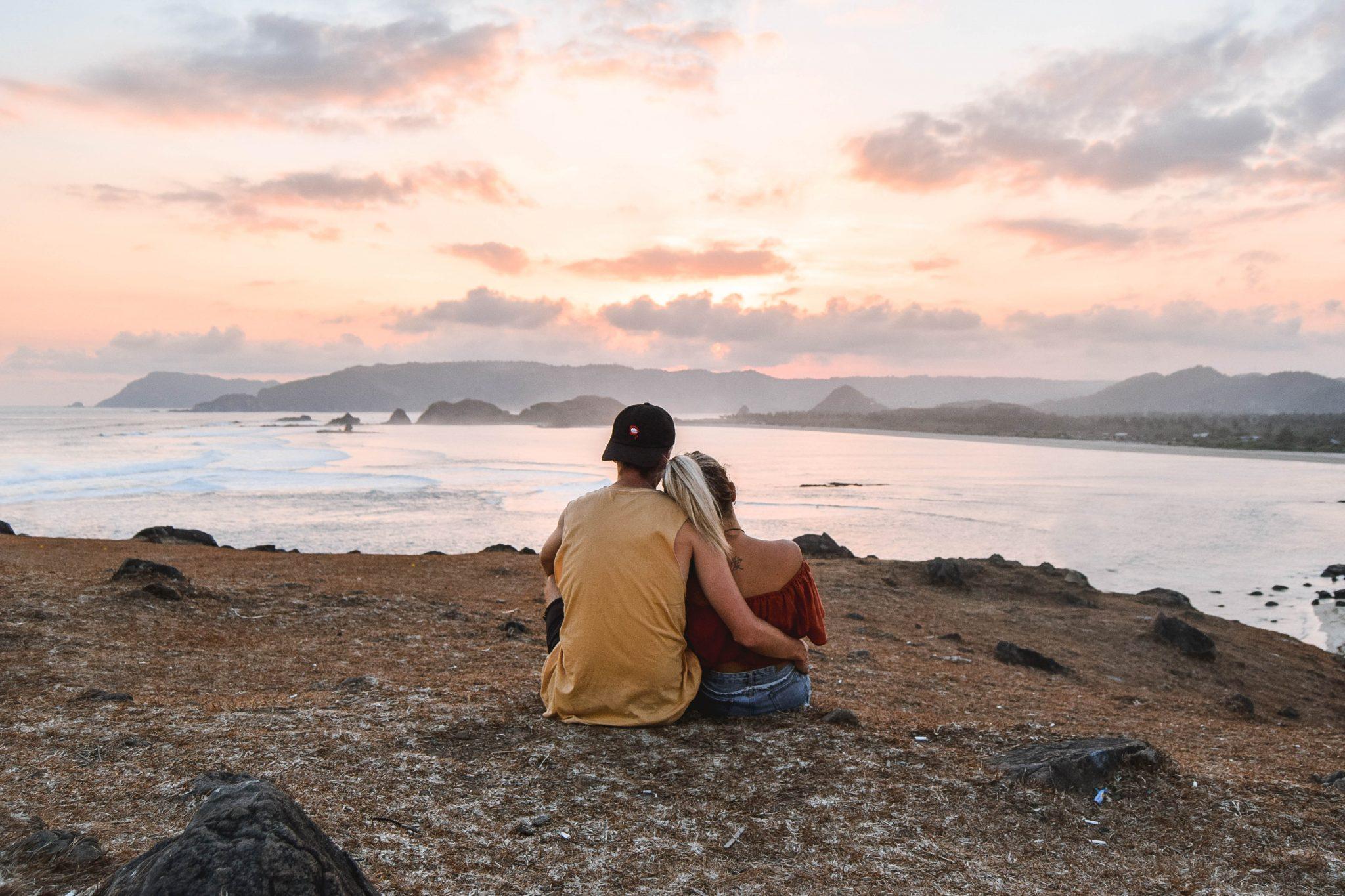 Wanderers & Warriors - Charlie & Lauren UK Travel Couple - Merese Hill Bukit Merese Lombok Sunset Things To Do In Kuta Lombok