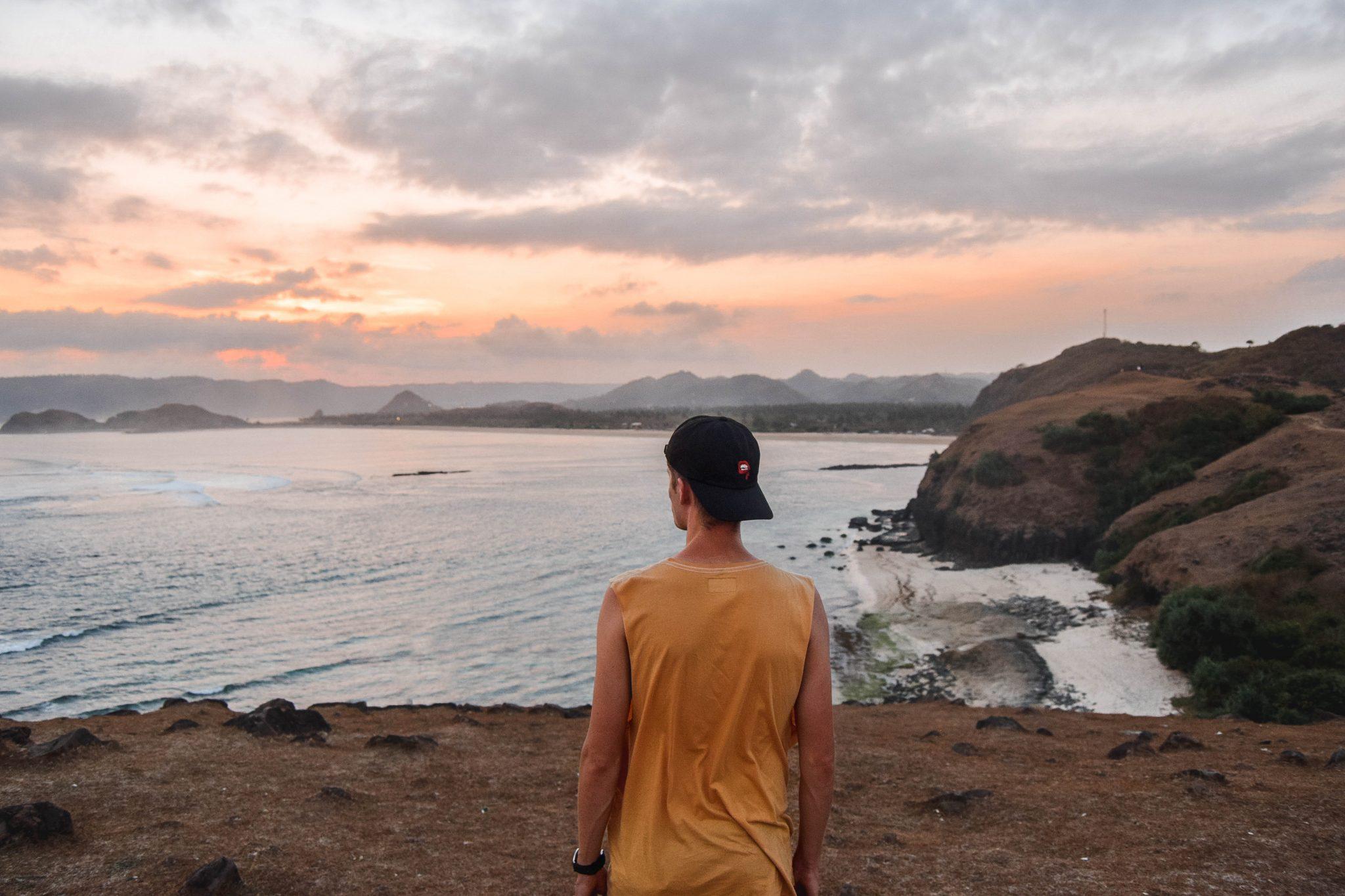 Wanderers & Warriors - Charlie & Lauren UK Travel Couple - Merese Hill Bukit Merese Lombok Sunset
