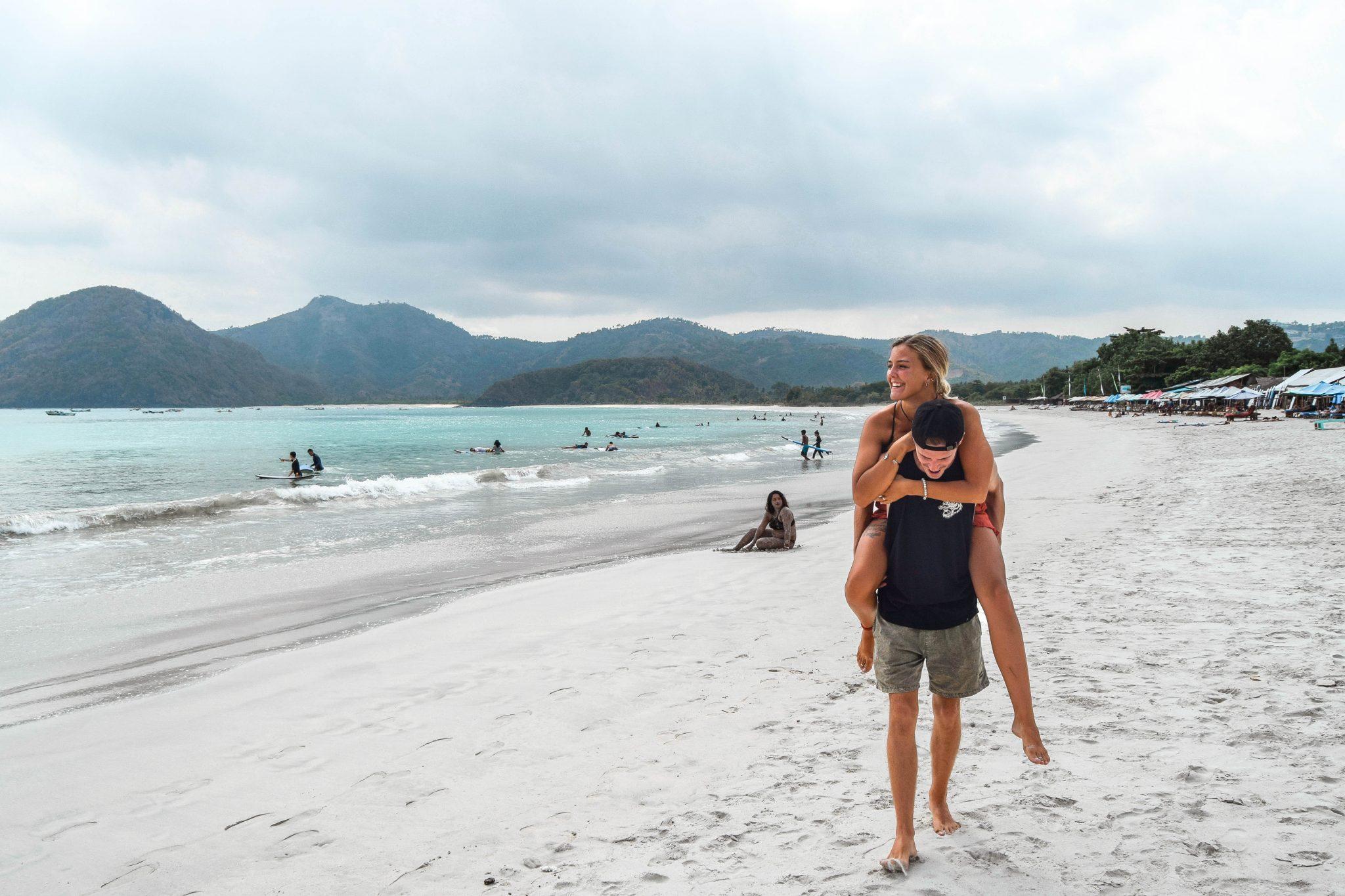Wanderers & Warriors - Charlie & Lauren UK Travel Couple - Selong Belanak Beach Lombok Surfing - Learn To Surf In Lombok