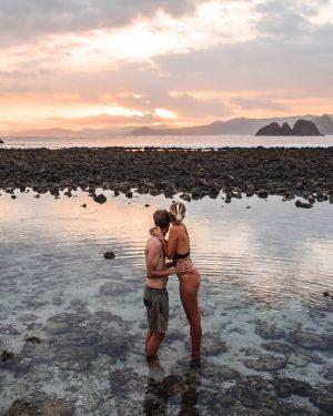 Wanderers & Warriors - Charlie & Lauren UK Travel Couple - Pantai Semeti Beach Lombok Sunset