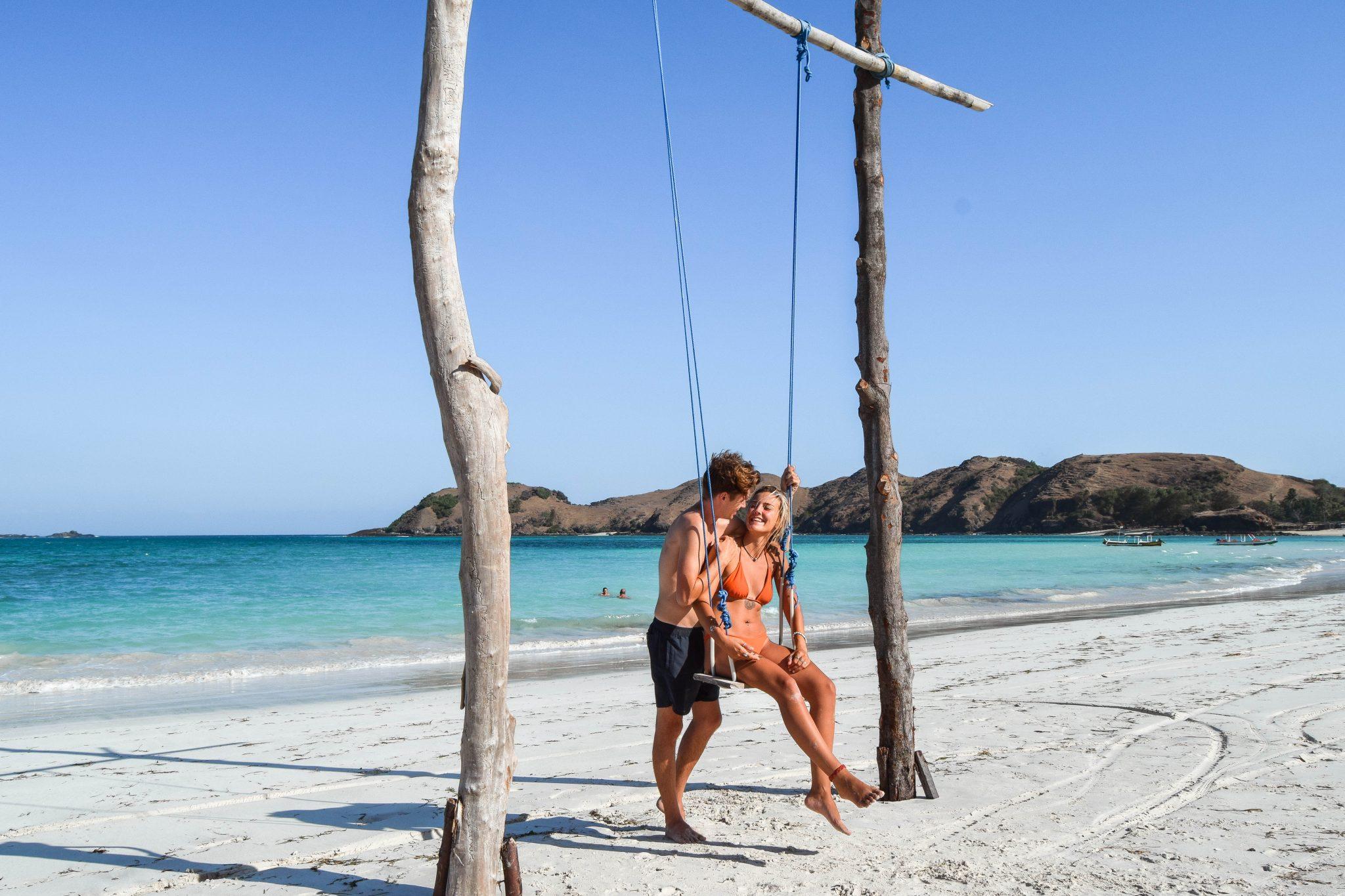 Wanderers & Warriors - Charlie & Lauren UK Travel Couple - Tanjung Aan Beach - Tanjung Aan Lombok Things To Do In Kuta Lombok