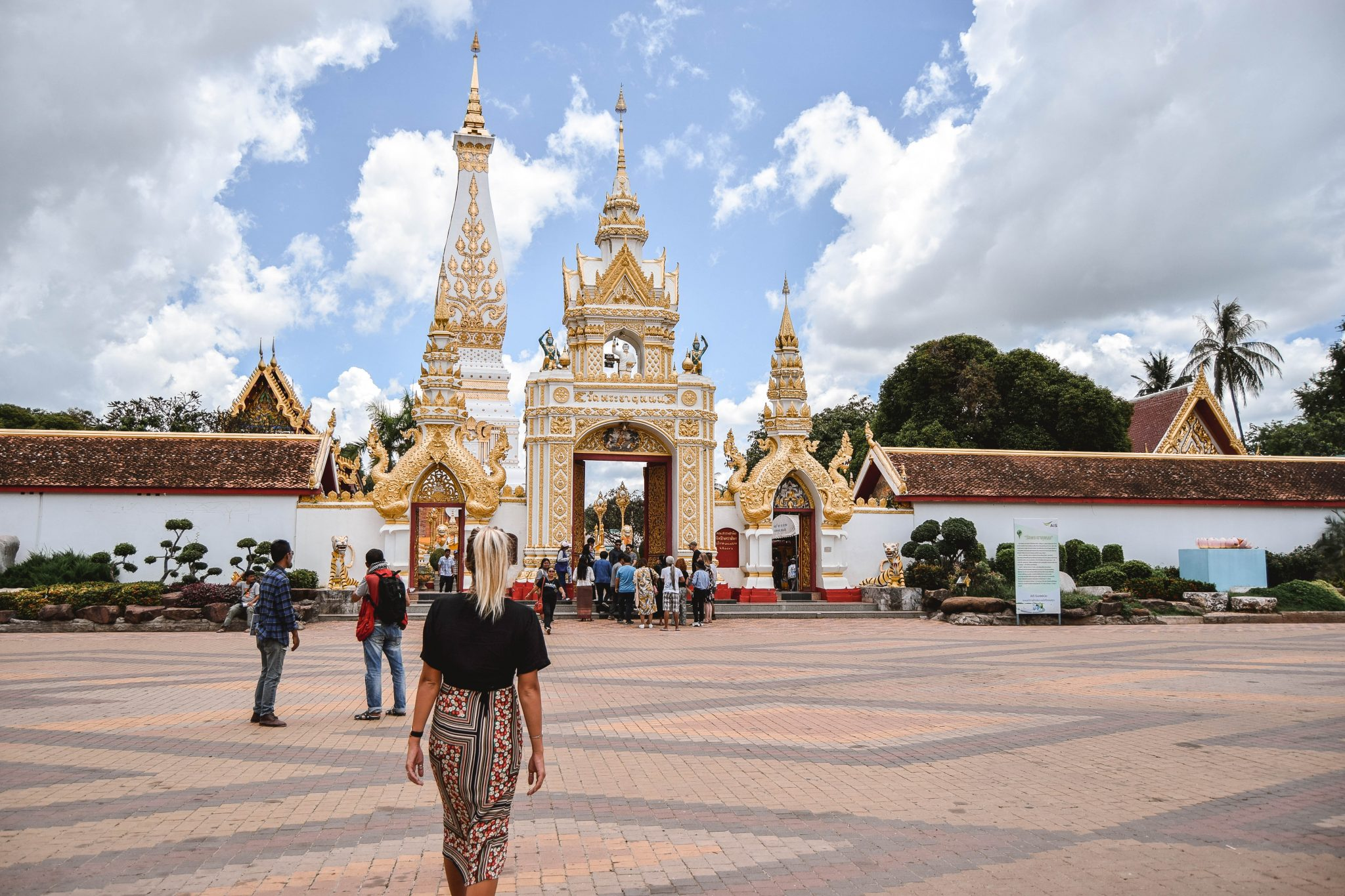 Wanderers & Warriors - Charlie & Lauren UK Travel Couple - 7 Things To Do In Nakhon Phanom - Wat Phra That Phanom