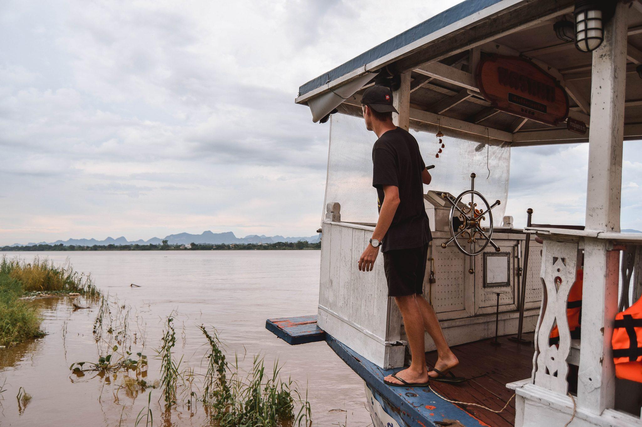Wanderers & Warriors - Charlie & Lauren UK Travel Couple - 7 Things To Do In Nakhon Phanom - Mekong River Cruise Thailand
