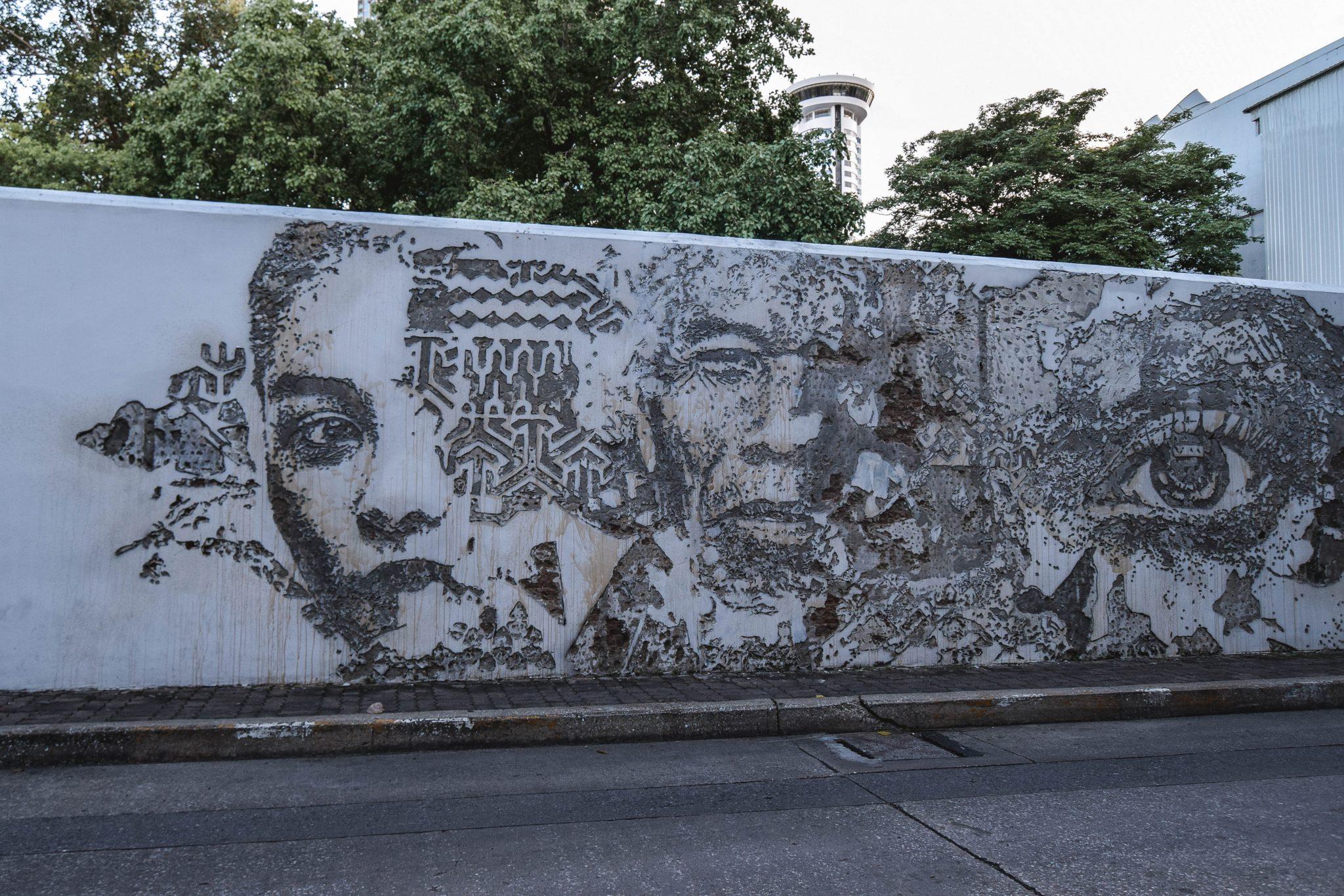 Wanderers & Warriors - Creative District Bangkok Creative District, Bangkok Street Art