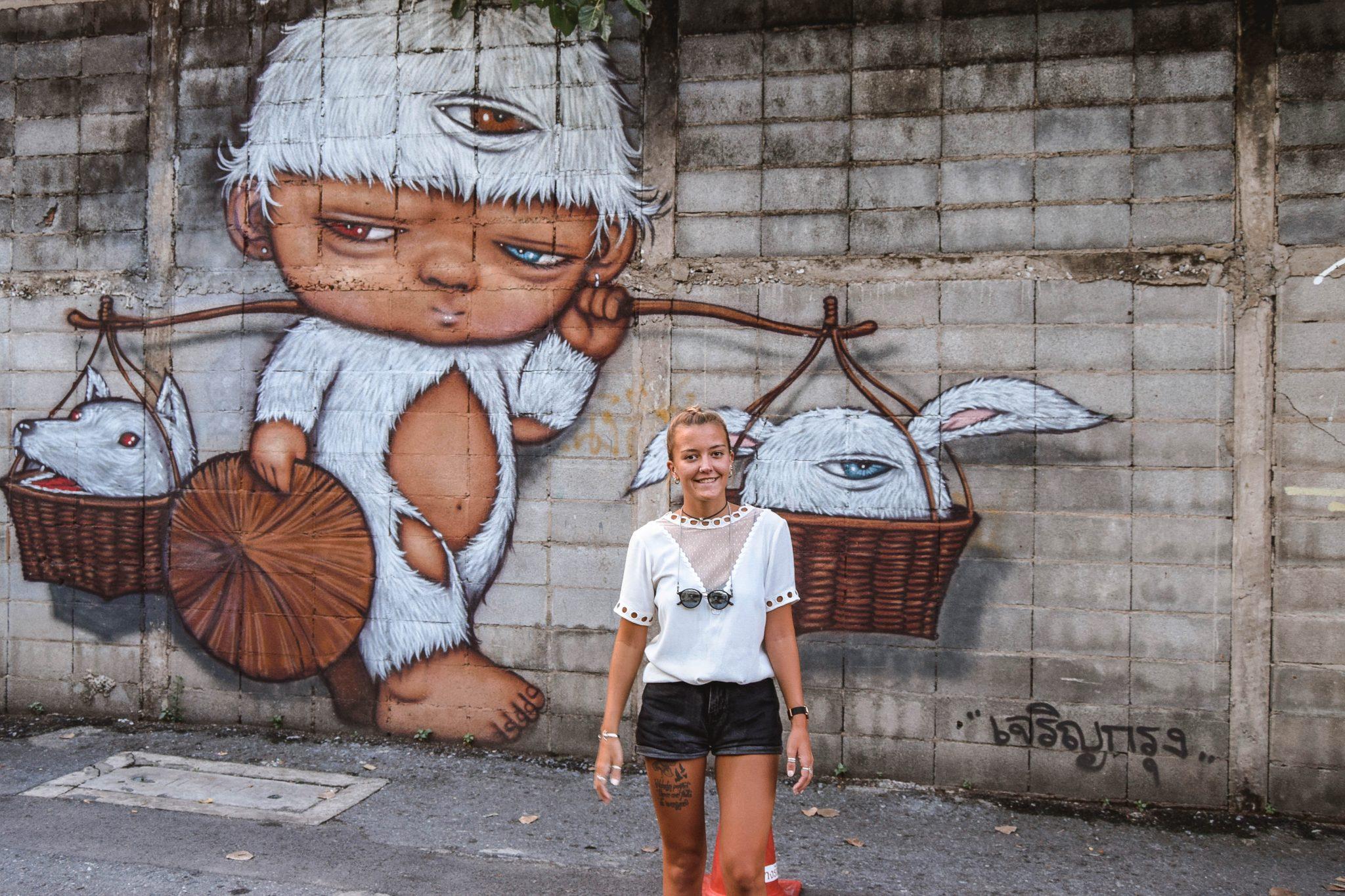 Wanderers & Warriors - Creative District Bangkok Creative District - Hipster Bangkok Street Art