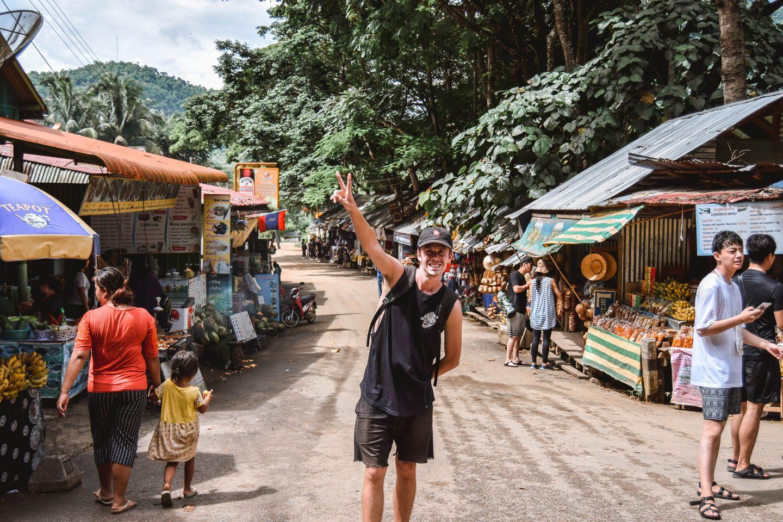 Kuang Si Falls Luang Prabang Waterfall Kuang Si Waterfall Laos Waterfalls