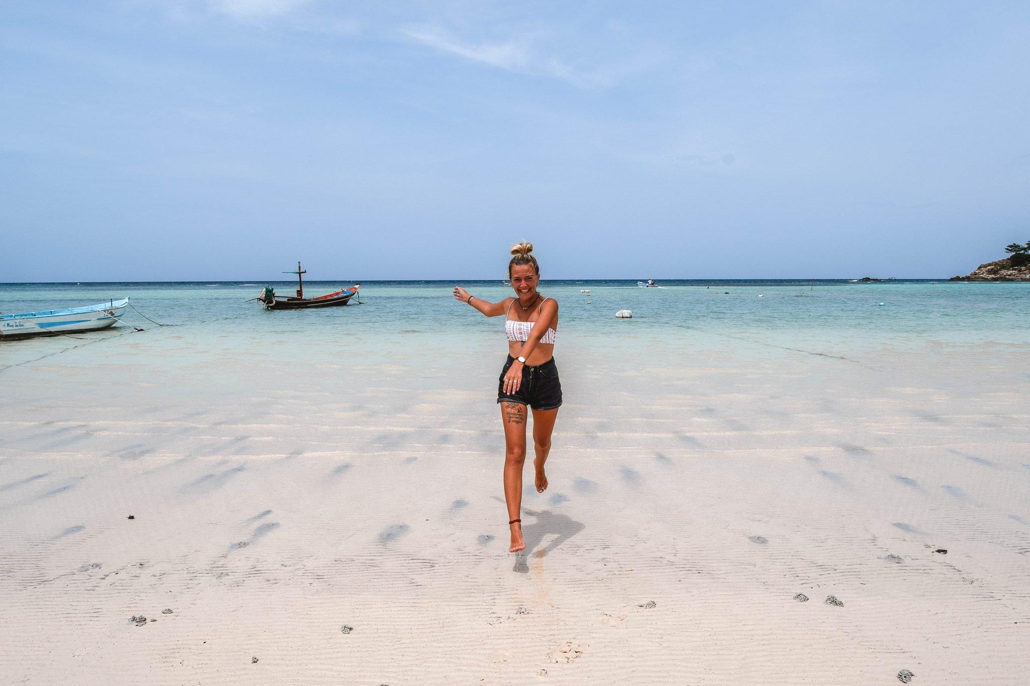 Wanderers & Warriors - Charlie & Lauren UK Travel Couple - Chalok Baan Kao Bay - things to do on Koh Tao Beach - Koh Tao Beaches In Koh Tao