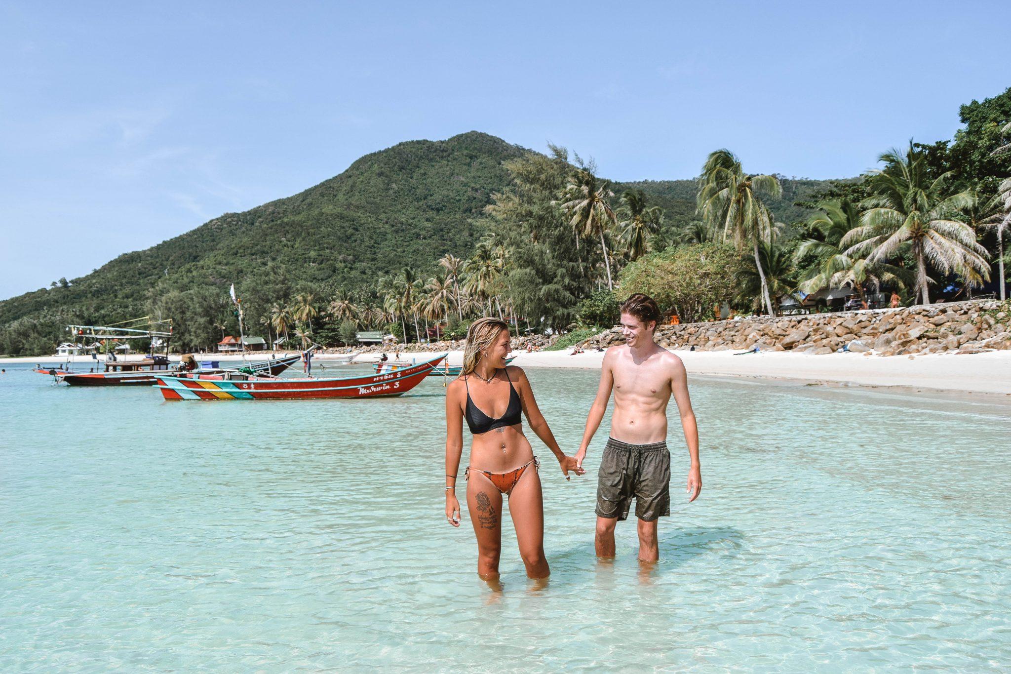 Wanderers & Warriors - Charlie & Lauren UK Travel Couple - Chaloklum Beach Koh Phangan Best Beaches Koh Phangan Beaches