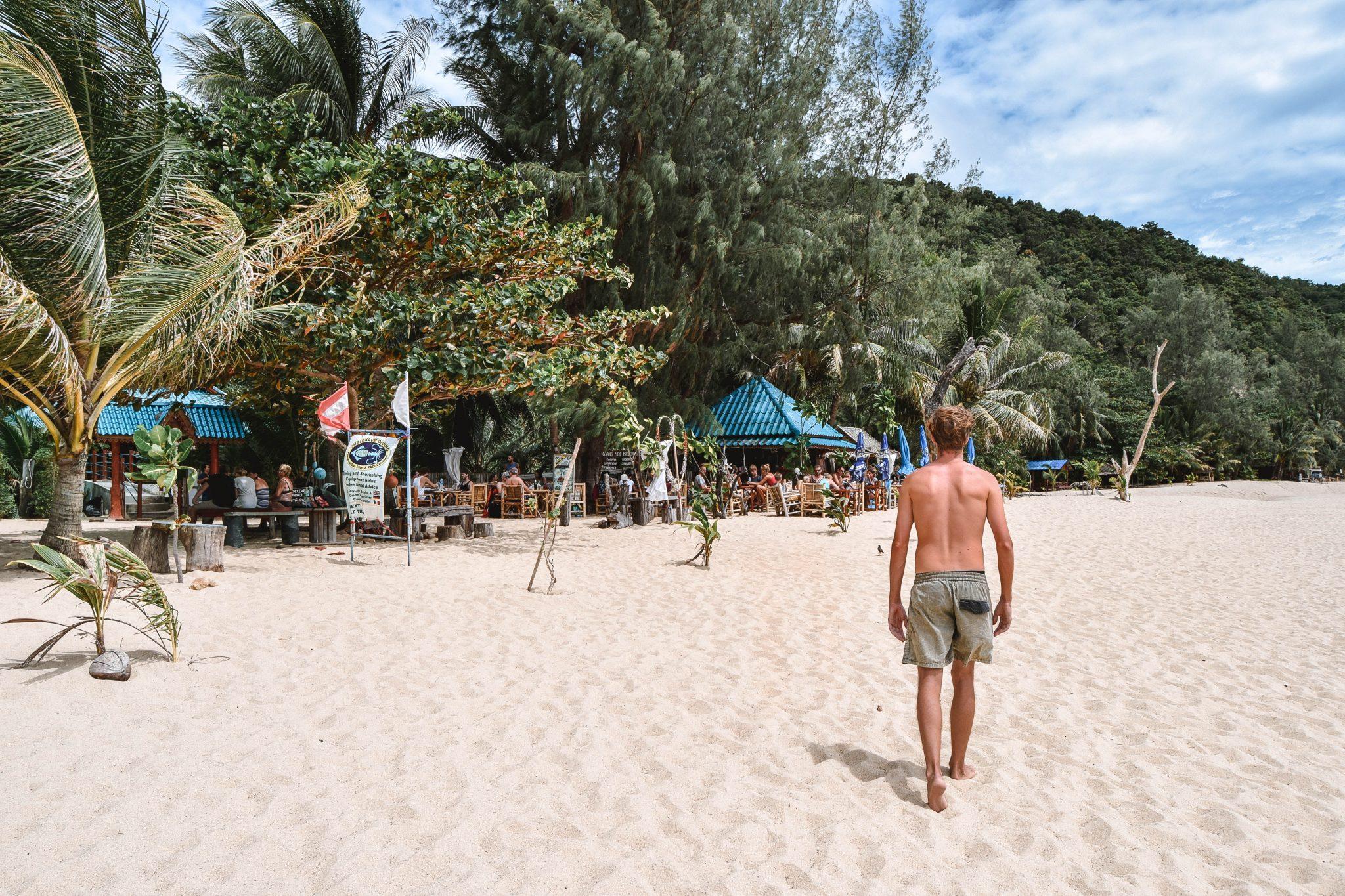 Wanderers & Warriors - Charlie & Lauren UK Travel Couple - Haad Mae Haad Beach Koh Phangan - Koh Ma Koh Phangan Best Beaches Koh Phangan Beaches