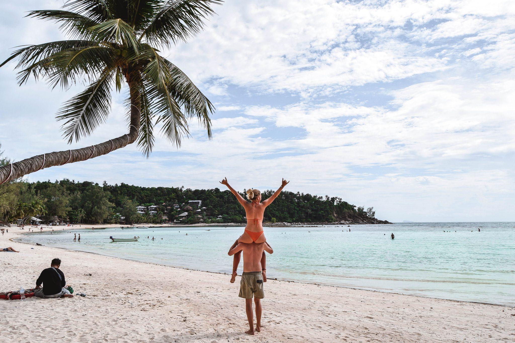 Wanderers & Warriors - Charlie & Lauren UK Travel Couple - Haad Salad Beach Koh Phangan Best Beaches Koh Phangan Beaches