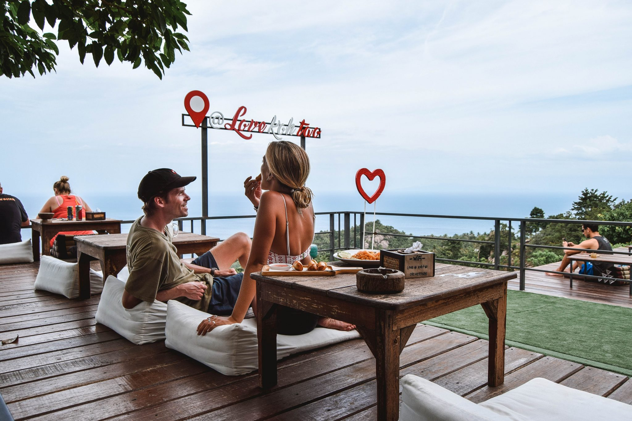 Wanderers & Warriors - Charlie & Lauren UK Travel Couple - Love Koh Tao Viewpoint Koh Tao Viewpoints - Love Koh Tao Sign -things to do on koh tao