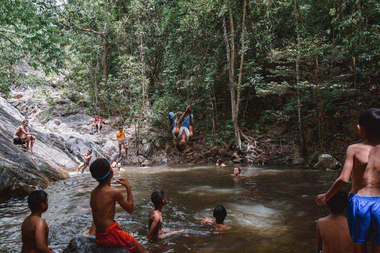 Paradise Waterfall Koh Phangan Waterfall