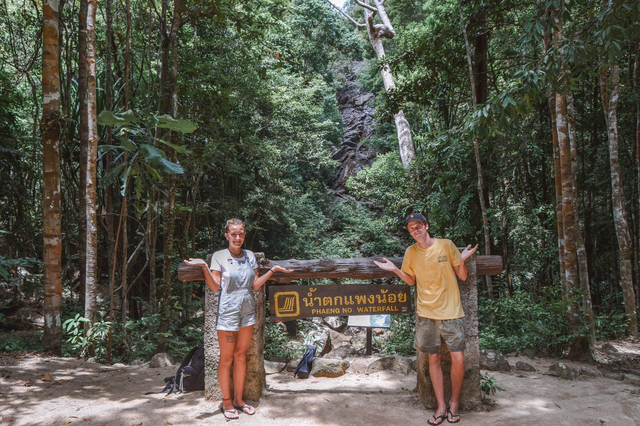 Wanderers & Warriors - Charlie & Lauren UK Travel Couple - Phaeng Waterfall Koh Phangan Waterfall - Koh Phangan Waterfalls In Koh Phangan