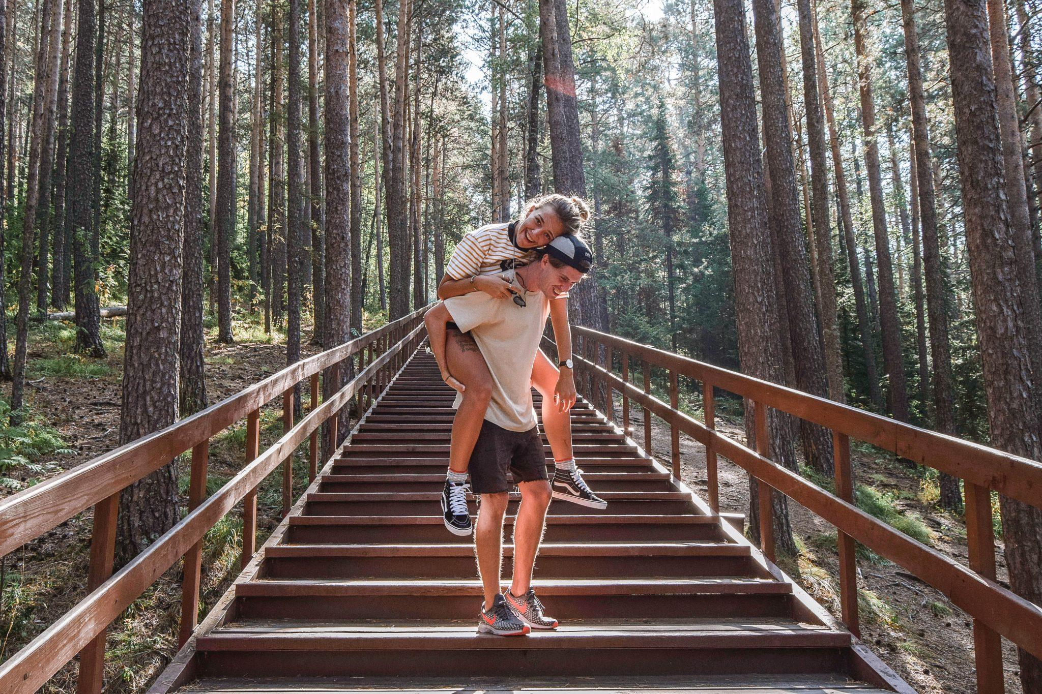 Wanderers & Warriors - Charlie & Lauren UK Travel Couple - Things To Do In Krasnoyarsk - Stolby Nature Reserve Stolby Nature Park