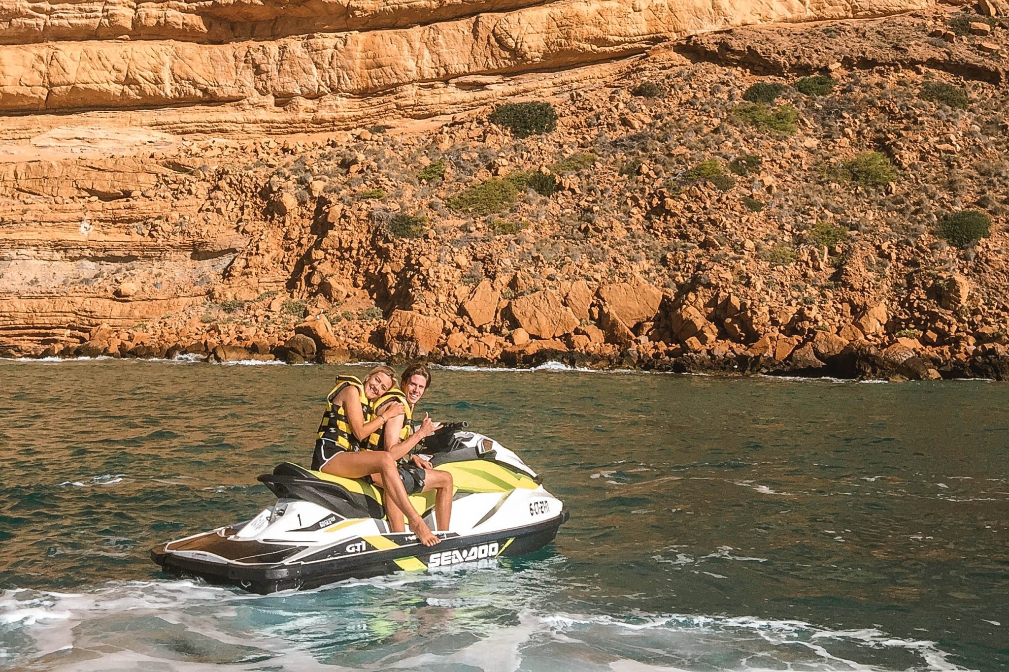 Wanderers & Warriors - Charlie & Lauren UK Travel Couple - Things To Do In Benidorm Jet Ski Benidorm