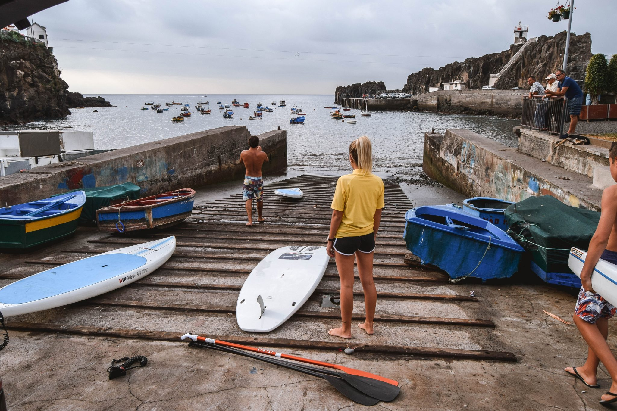 Wanderers & Warriors - Charlie & Lauren UK Travel Couple - Things To Do In Funchal Things To Do - Stand Up Paddle Boarding Funchal Madeira
