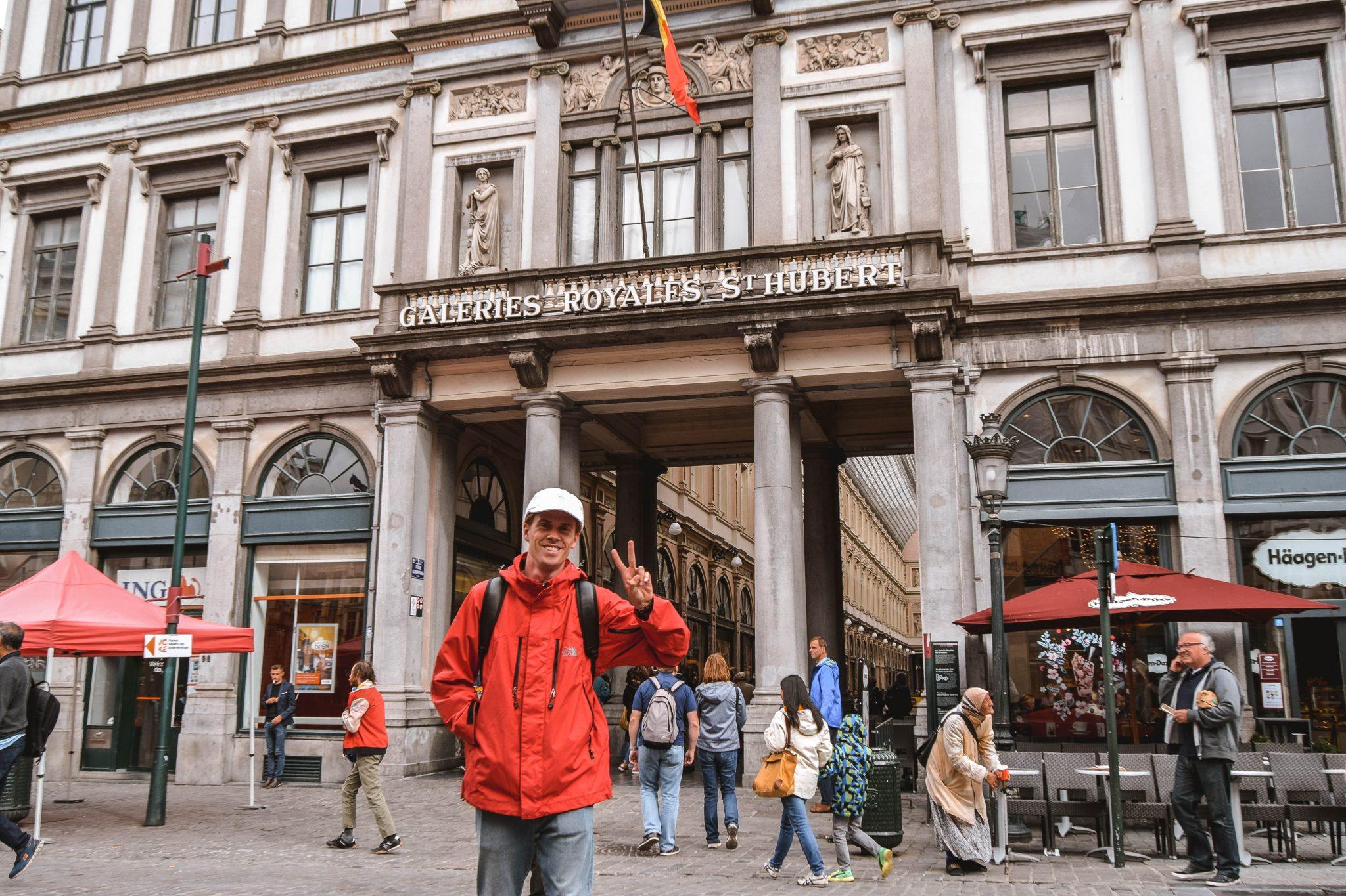 Wanderers & Warriors - Charlie & Lauren UK Travel Couple - Things To Do In Brussels In A Weekend - Grand Place Brussels Galeries Royales Saint-Hubert