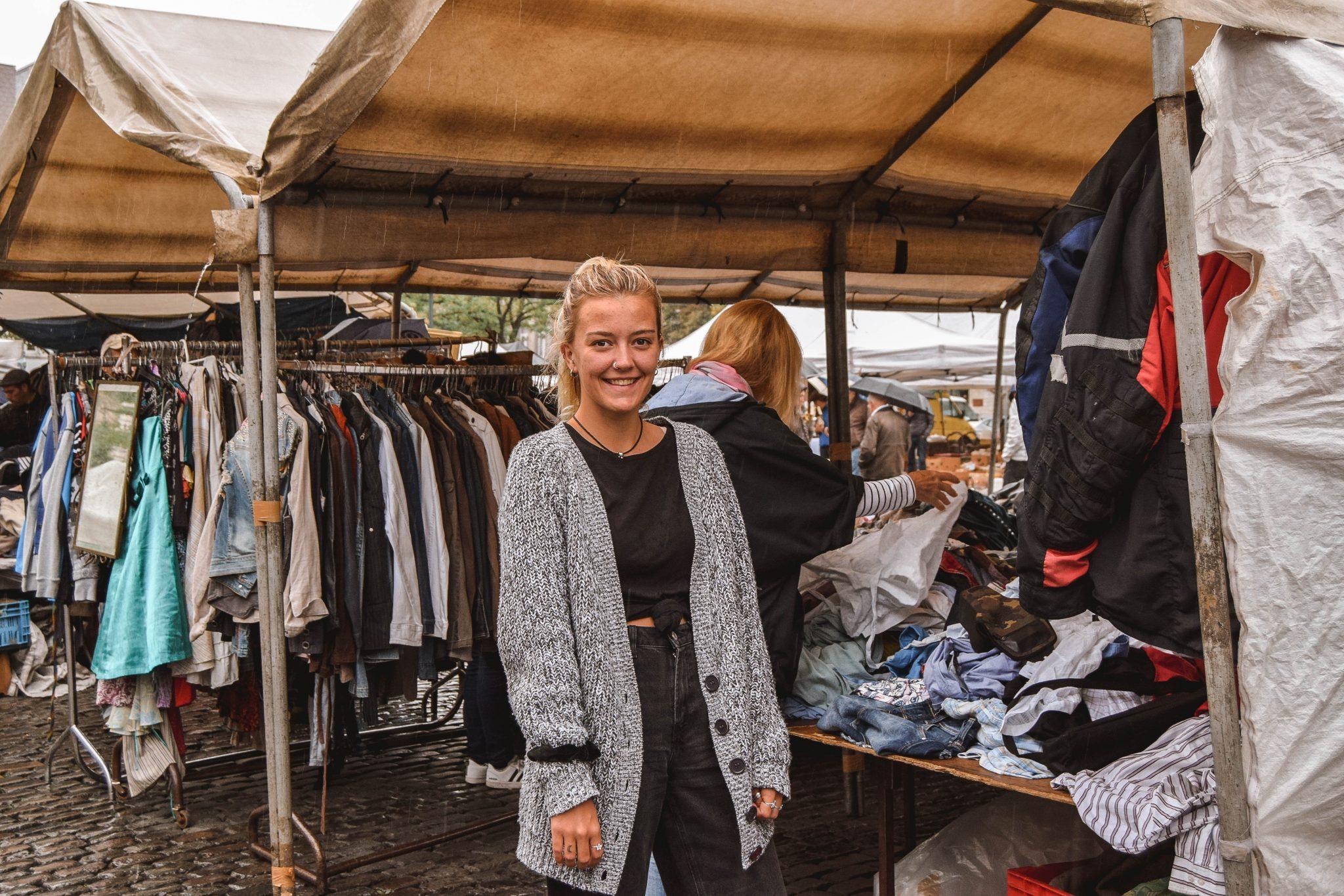 Wanderers & Warriors - Charlie & Lauren UK Travel Couple - Things To Do In Brussels In A Weekend - Marolles Flea Market Brussels
