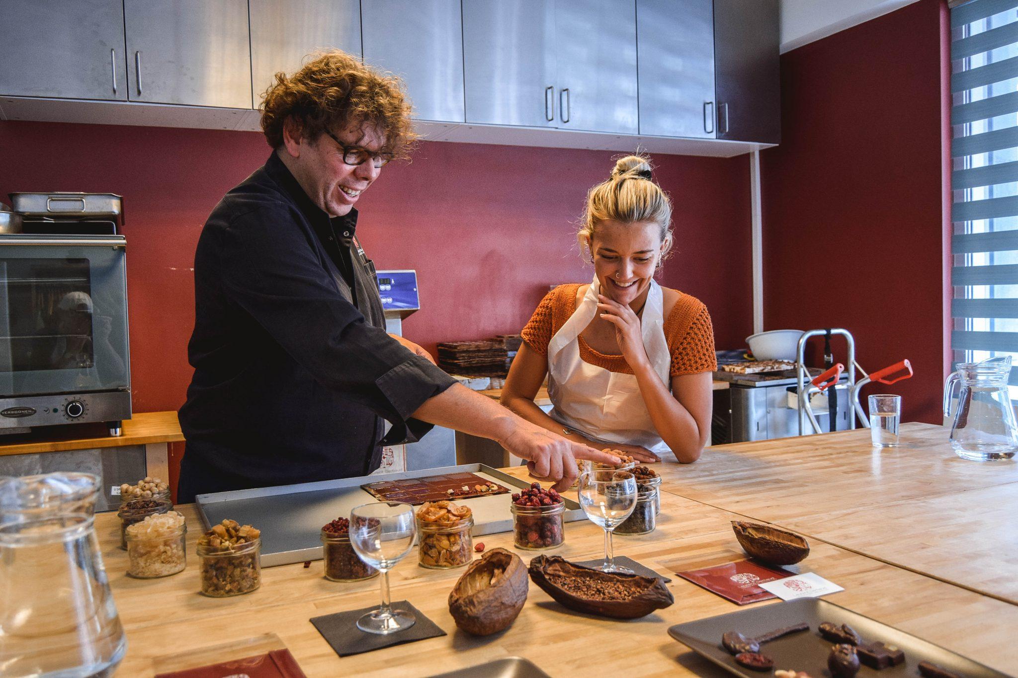 Wanderers & Warriors - Charlie & Lauren UK Travel Couple - Things To Do In Brussels In A Weekend - laurent gerbaud Chocolate Workshop Brussels