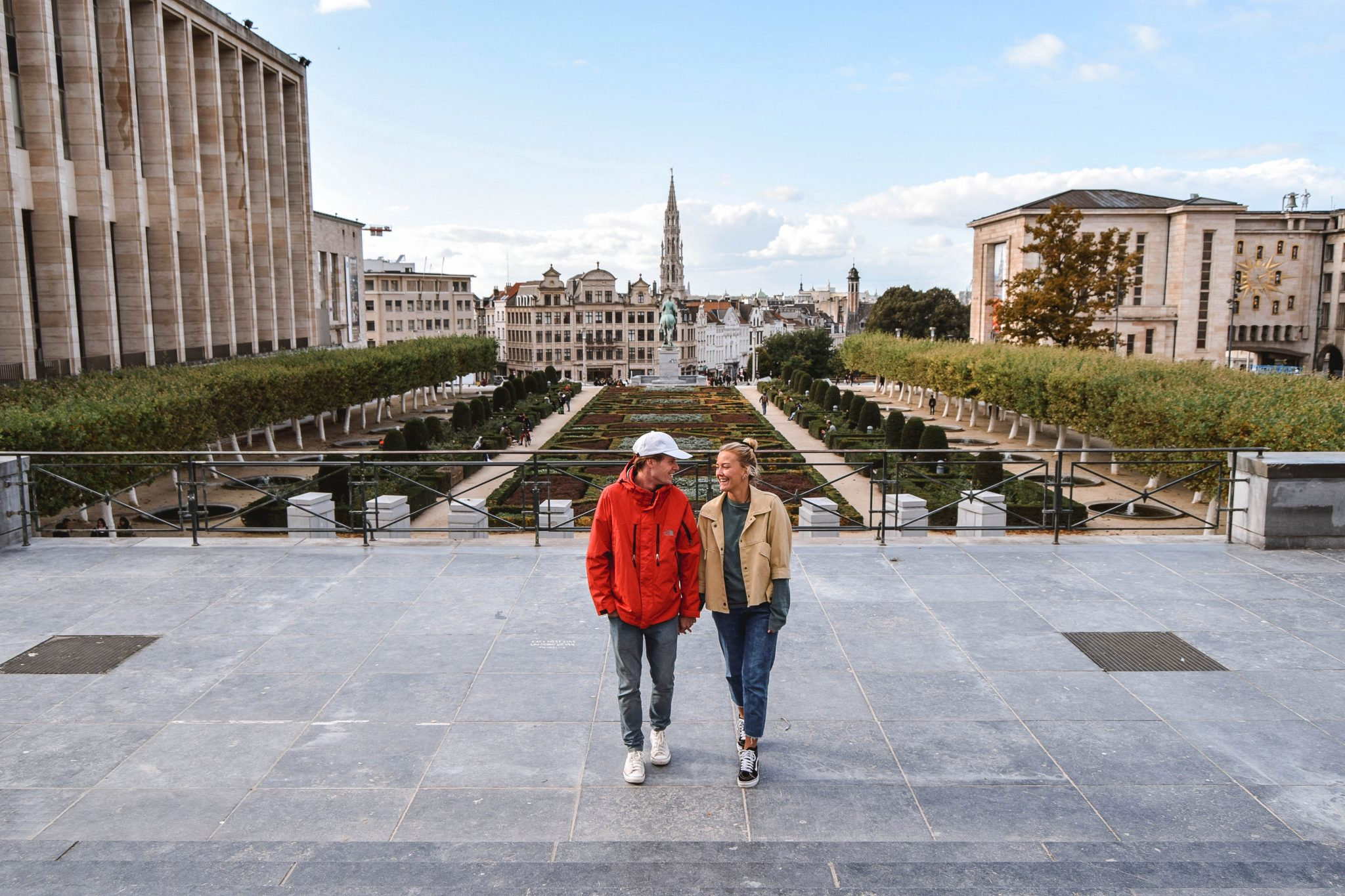 Wanderers & Warriors - Charlie & Lauren UK Travel Couple - Things To Do In Brussels In A Weekend - Mont Des Arts Brussels